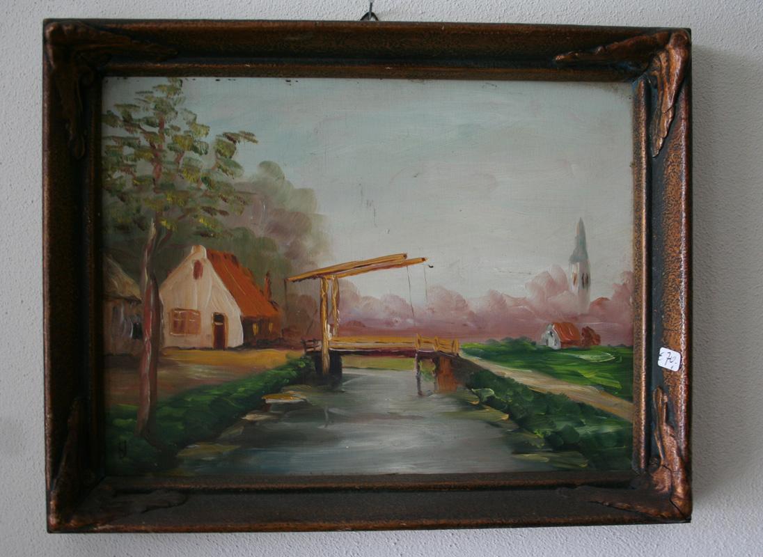 Schilderij nr 19 antiekhuis nick toma for Schilderij zeezicht